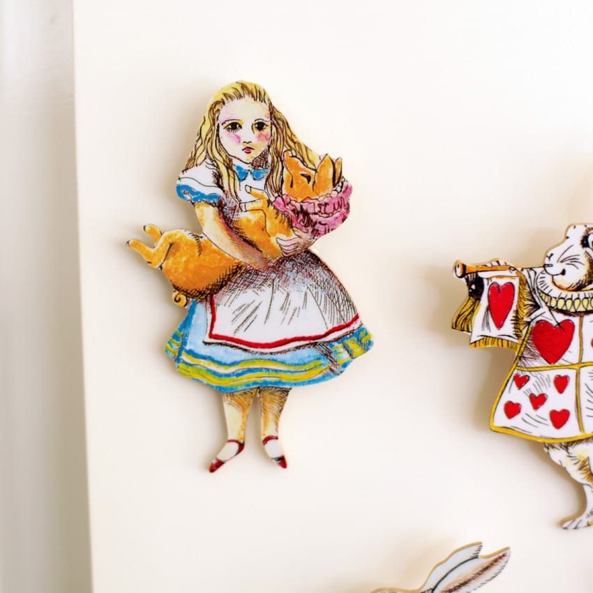 Alice In Wonderland Fridge Magnet, retailing at £6.50 buy online from our London shops, UK