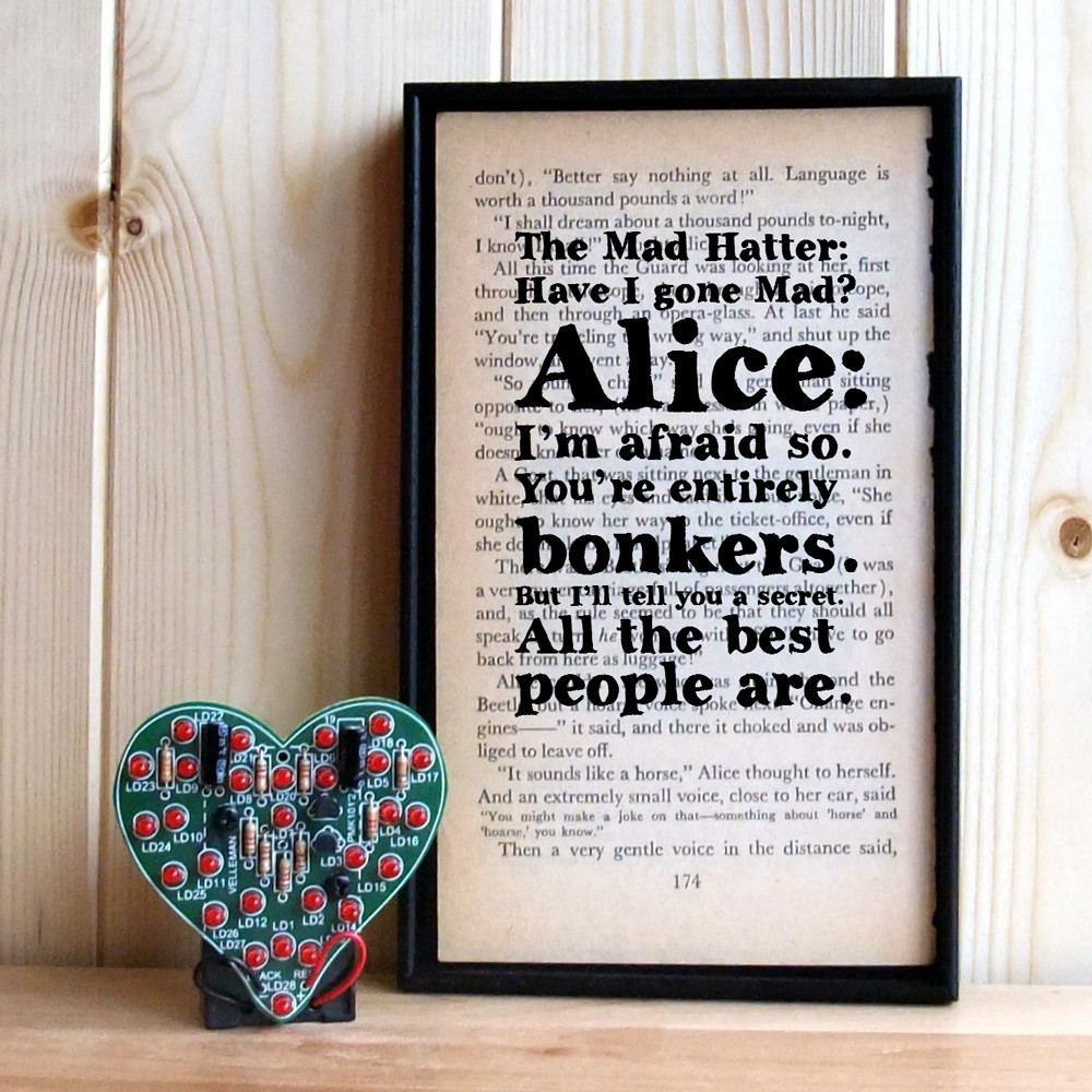 Alice Book Print by Bookishly