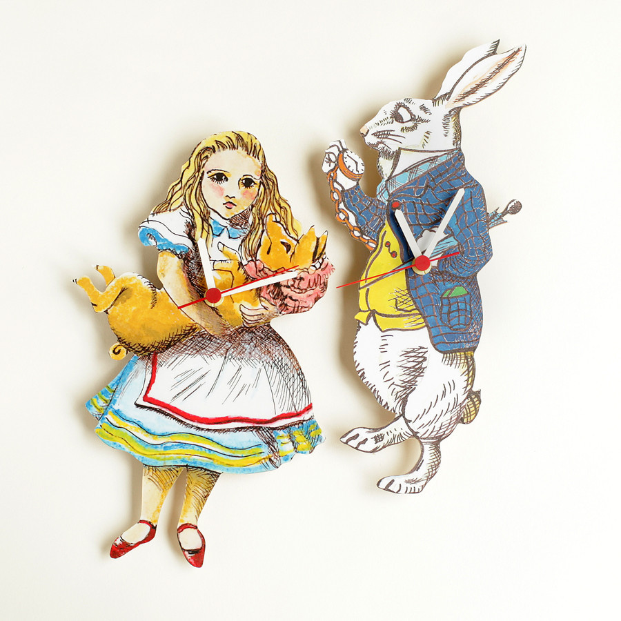 Alice in Wonderland Clocks and The White Rabbit Clocks, buy online, London UK