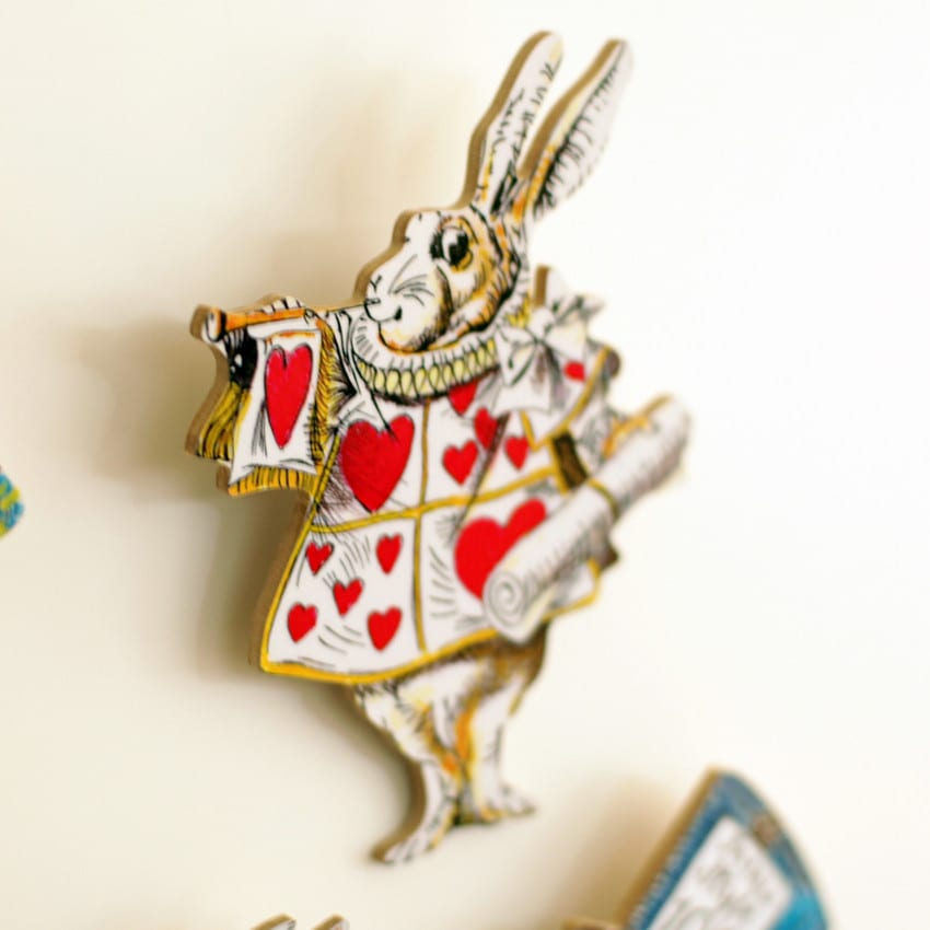 The White Rabbit From Alice in Wonderland Fridge Magnets, buy online UK