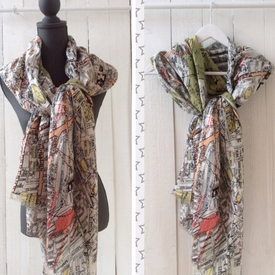 London map scarf to buy online UK