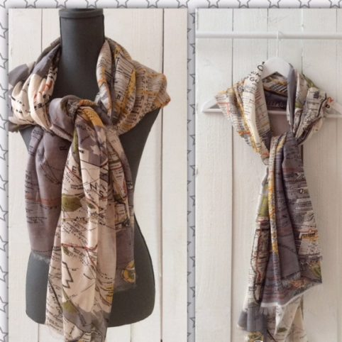 Map Scarf New York buy online UK