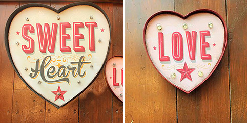 Light up her day with the Temerity Jones Illuminated Heart Signs