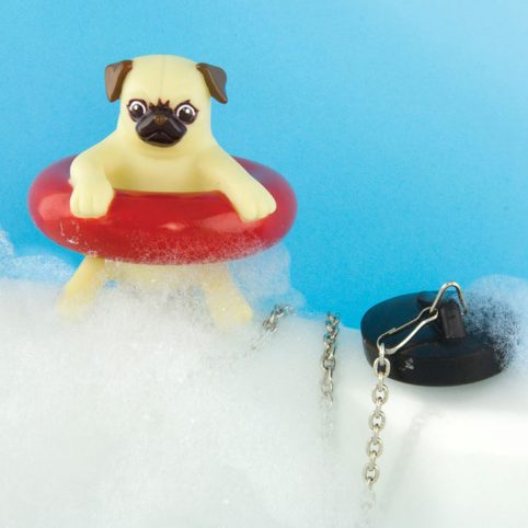 Gifts For Pug Lovers | Bath Plug Pug Dog to buy online UK