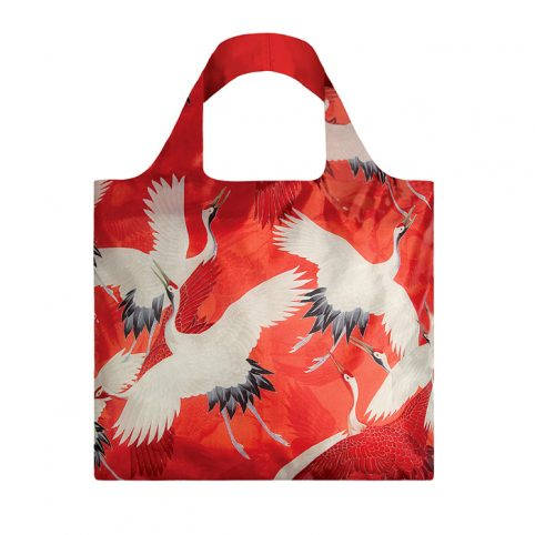 Womans Haori with Red and White Cranes Eco BaG