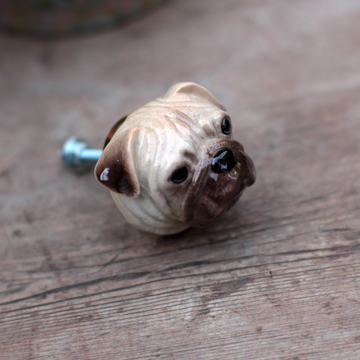 Dog Head Door Knob Pug Door Knob By And Mary