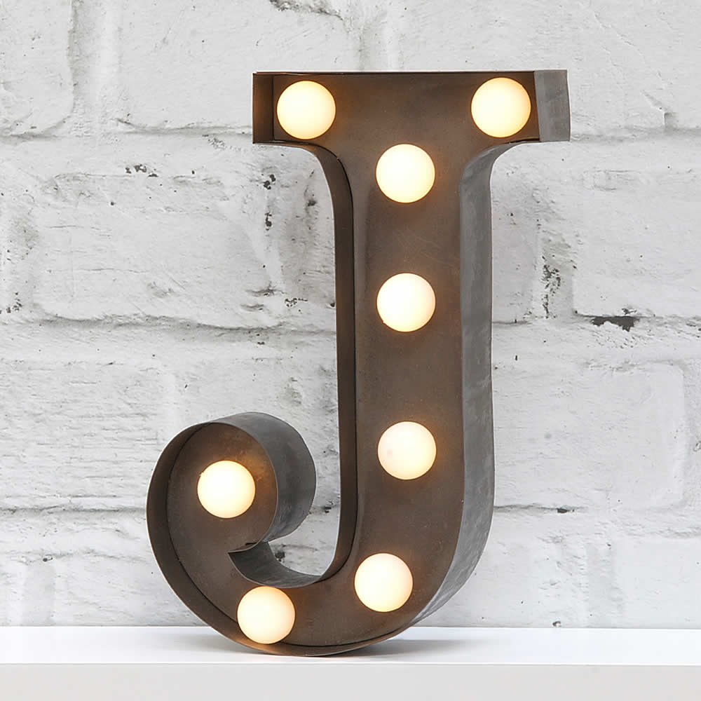 Fairground letter lights j for Light letters for sale