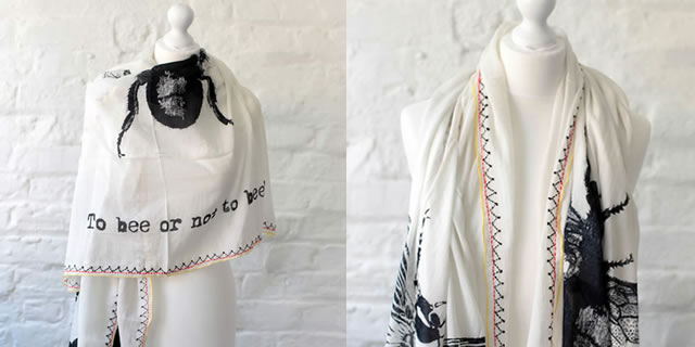 One Hundred Stars scarves - Bee scarf design, buy online UK