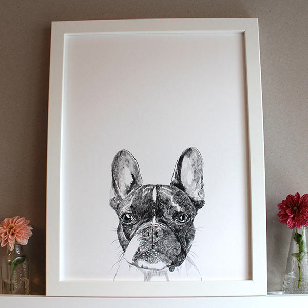Boston Terrier Print by Ros Shiers