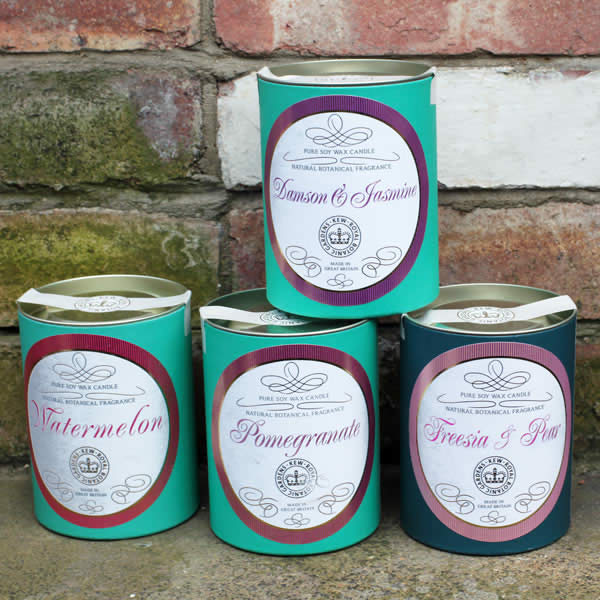 Best Scented Candles UK, Kew Botanicals Candles by Canova buy online UK
