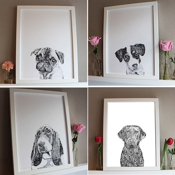 Ros Shiers Dog Prints