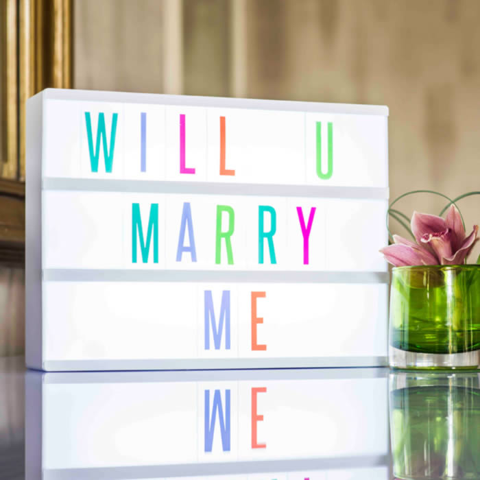 Cinematic Light Box with Multicoloured Letters buy online UK
