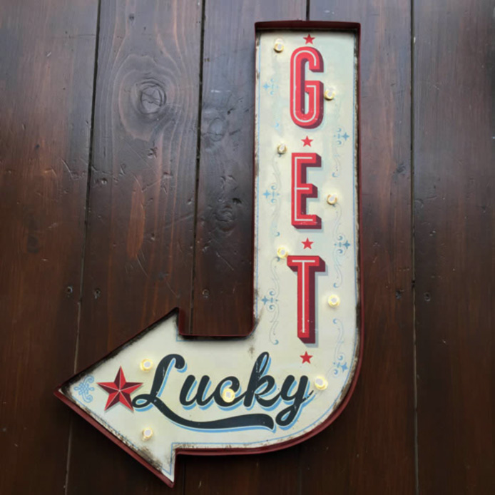 Get Lucky Light Up Sign by Temerity Jones