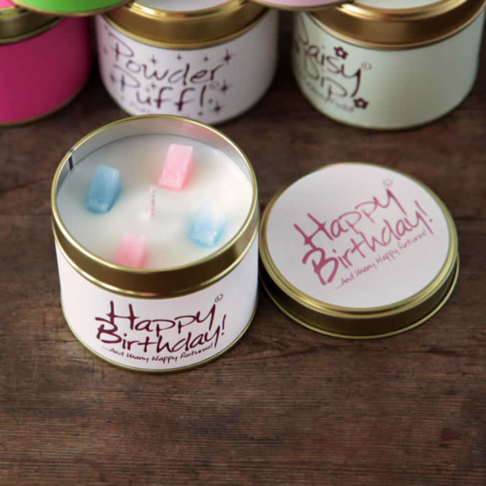 Happy Birthday Candle by Lily Flame fragrant candle buy online UK