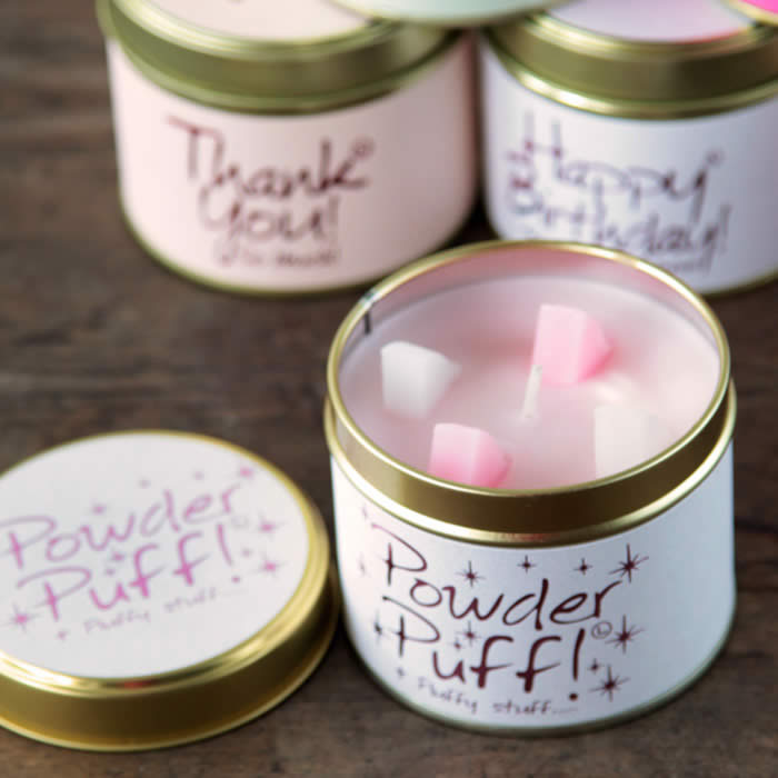 Powder Puff Scented Candle by Lily Flame buy online UK