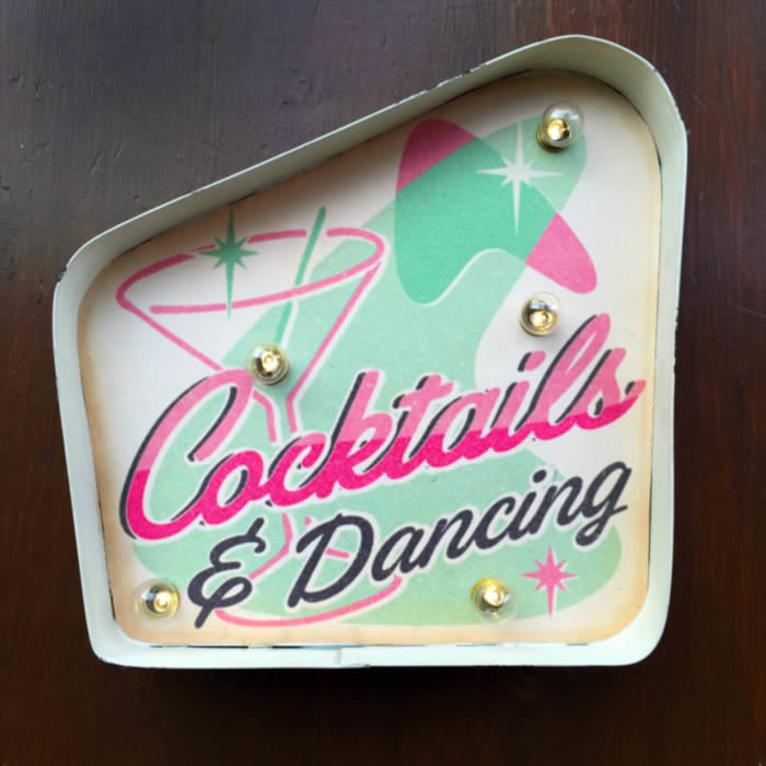 Light Up Cocktail Sign by Temerity Jones buy online UK