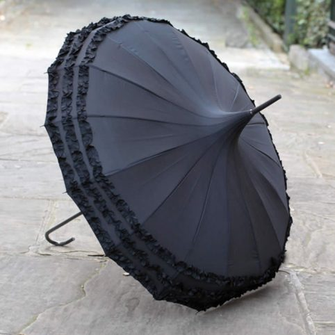 Pagoda Umbrella Black by Lindy Lou, buy online UK