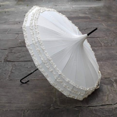 Pagoda Umbrella White - Lindy Lou design, perfect for weddings, buy UK