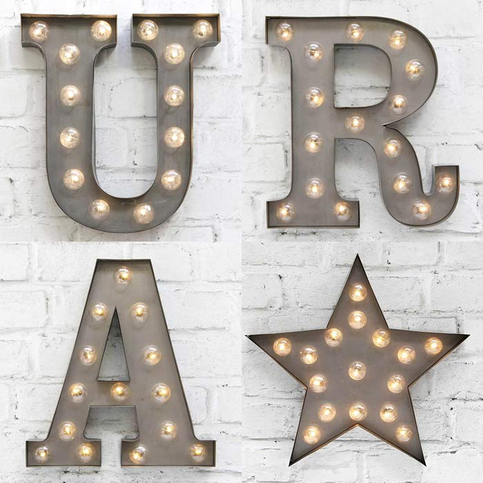 Carnival Light Up Letters