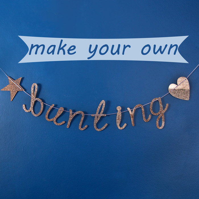 Make your own bunting for christmas buy uk Make your own christmas bunting