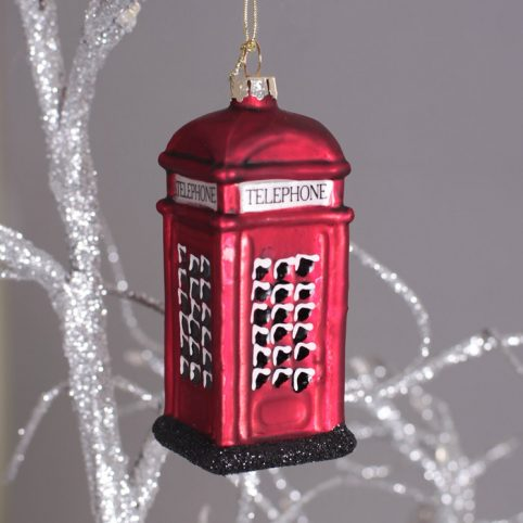 Telephone Box Tree Decoration - Buy Online UK Free p&p