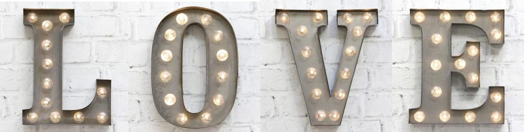 Carnival Lights Letters - Special Offer