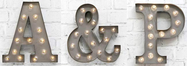Carnival Light Up Letters - Discount