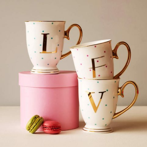 Mugs with Initials by Bombay Duck, buy online UK