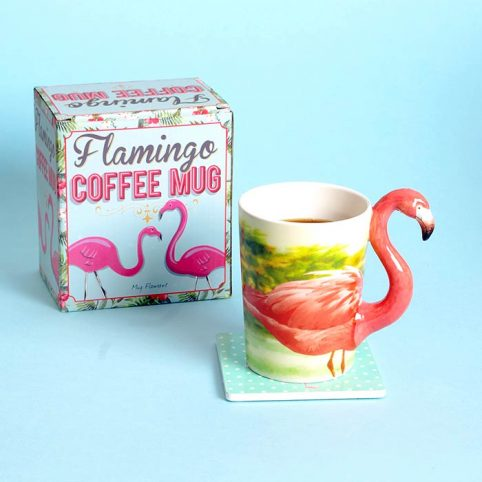 Flamingo Mug Designed by Temerity Jones, buy £10 with free delivery UK