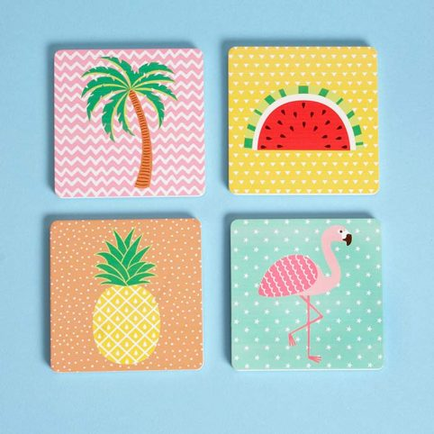 Tropical Coasters by Sass & Belle, buy online £7.50 with free UK delivery