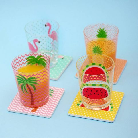 Summer Glass Tumblers by Sass & Belle buy UK