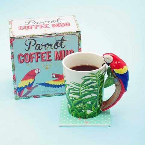 Parrot Mug by Temerity Jones, buy online £10 with free UK delivery