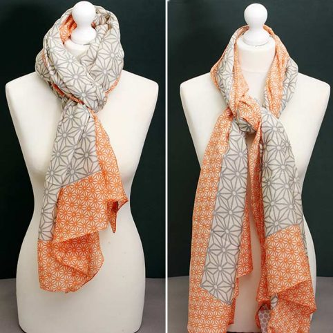 Grid Print Scarf by One Hundred Stars - Free UK Delivery
