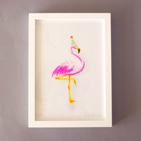 Flamingo Print - Risograph Prints by Petra Boase