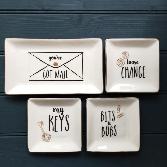 Ceramic trinket dish buy online uk for Cute homeware accessories