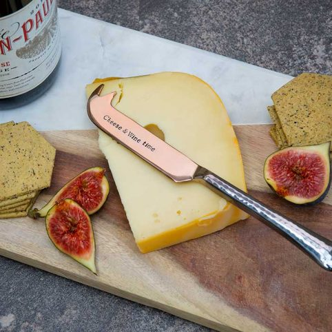 Cheese and Wine Time Knife by La De Da Living - Free UK Delivery