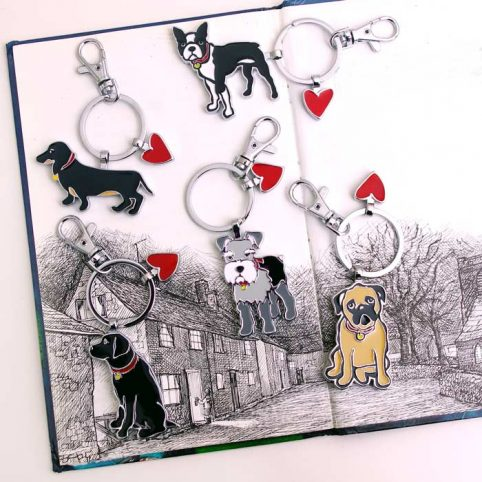 Dog Keyrings by Mar Tetro - Free UK Delivery