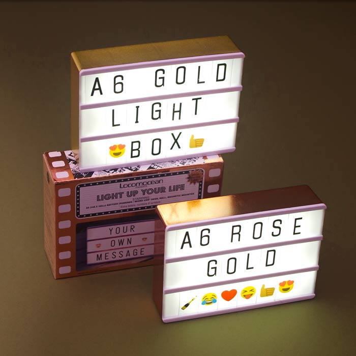 A6 Locomocean Lightbox With Letters Free P Amp P