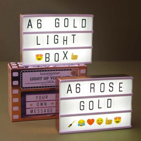 A6 Locomocean Lightbox in Rose gold and Gold - Free UK Delivery