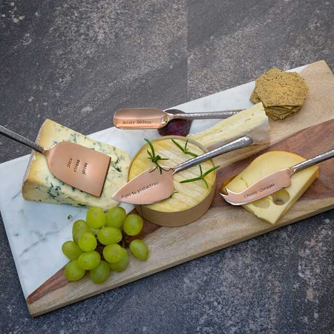 Set of 4 Cheese Knives by La De Da Living - Free UK Delivery