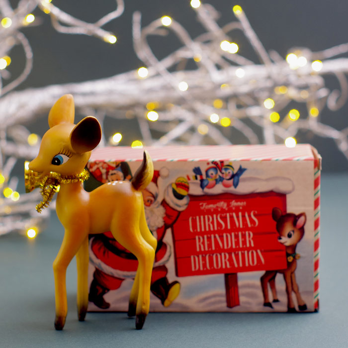 Retro Deer Christmas Decoration Packaging by Temerity Jones £6.50 Buy Online