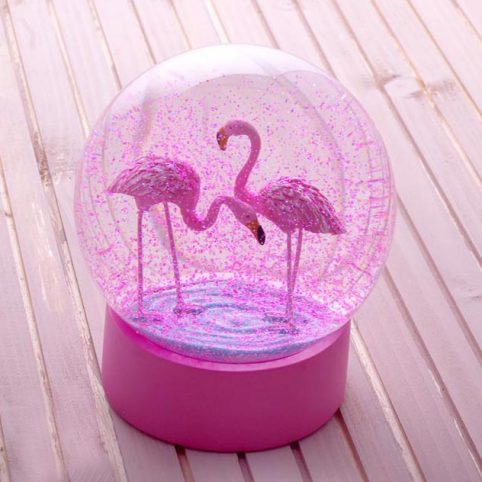 Flamingo Snow Globe by Talking Tables from Source. Buy Online Now