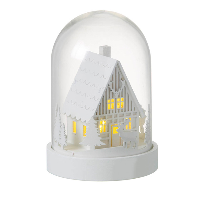Christmas Glass Dome with LED Lights By Parlane