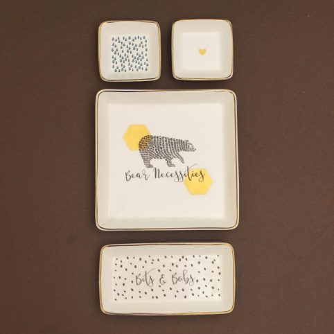 Ceramic Trinket Dishes Set of 4 from Wild and Wolf by Source. Buy Online Now.