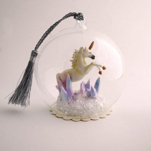 Unicorn Christmas Bauble Galloping by Cody Foster £15 Buy Online free p&p