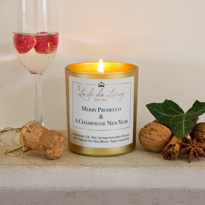 Festive Scented Candles - Champagne Christmas Candle by La De Da Living brought to you this Christmas by Source. Buy Online Now