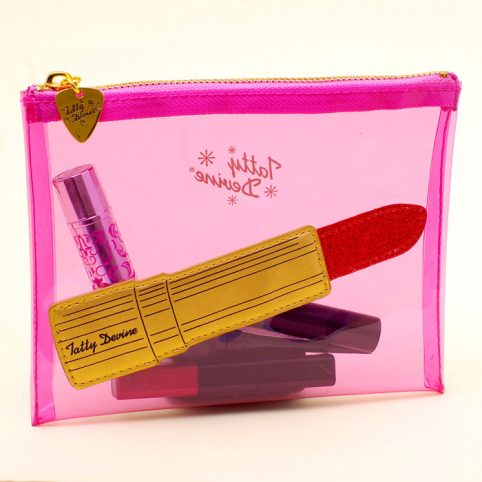 Tatty Devine Makeup Bag - Lipstick Design Buy Online UK