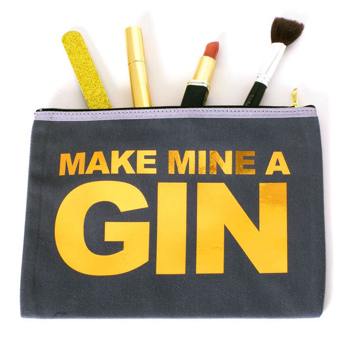 Gin Makeup Bag - Catherine Colebrook Make up and Wash bags