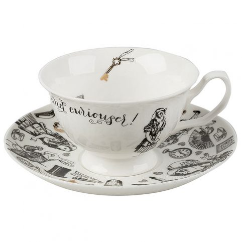 Alice in Wonderland Cup and Saucer - Free UK Delivery