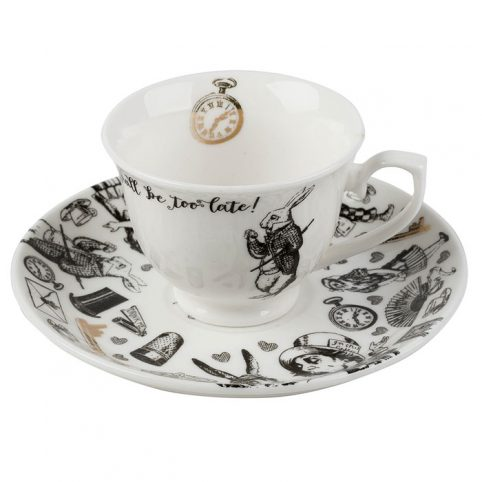 Alice in Wonderland Espresso Cup and Saucer